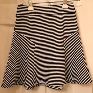 Express High Waisted Striped Skirt
